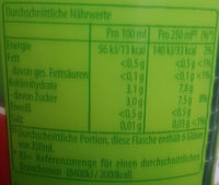 Lipton Green Ice Tea Lime - Nutrition facts - de