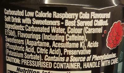 Pepsi MAX Raspberry - Ingredients - en