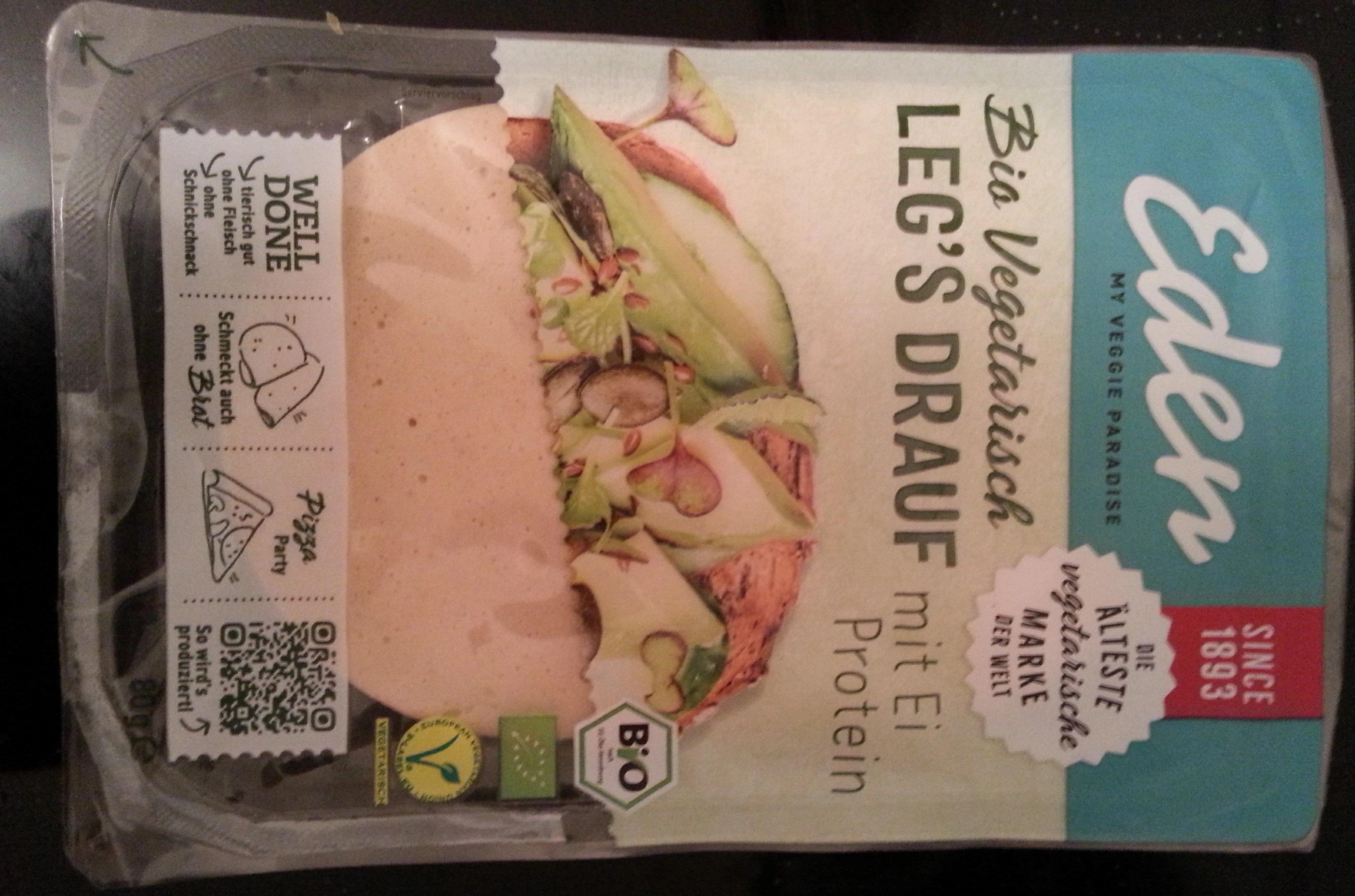 vegetarischer Aufschnitt auf Basis von Hünereieiweiß - Product