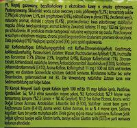 Napój gazowany, bezalkoholowy z ekstraktem z kawy o smaku cytrynowym - Składniki - pl