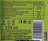 Napój gazowany, bezalkoholowy z ekstraktem z kawy o smaku cytrynowym - Wartości odżywcze - pl