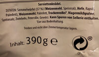 Serviettenknödel - Ingredients - de