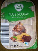 Nuss Nougat schnittfeste Masse - Product - fr