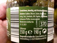 Premium Cornichons - Ingredients - de