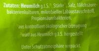 Emmentaler gerieben - Inhaltsstoffe - de