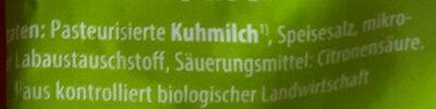 Mozarella aus Kuhmilch - Ingrédients - de
