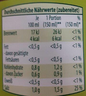 Hühnerbrühe - Nährwertangaben - de
