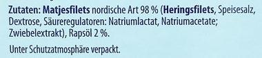 Edle Matjesfilets nordische Art - Ingredients - de