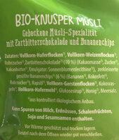 Knuspernüsli Schoko Banane - Ingredienti - de