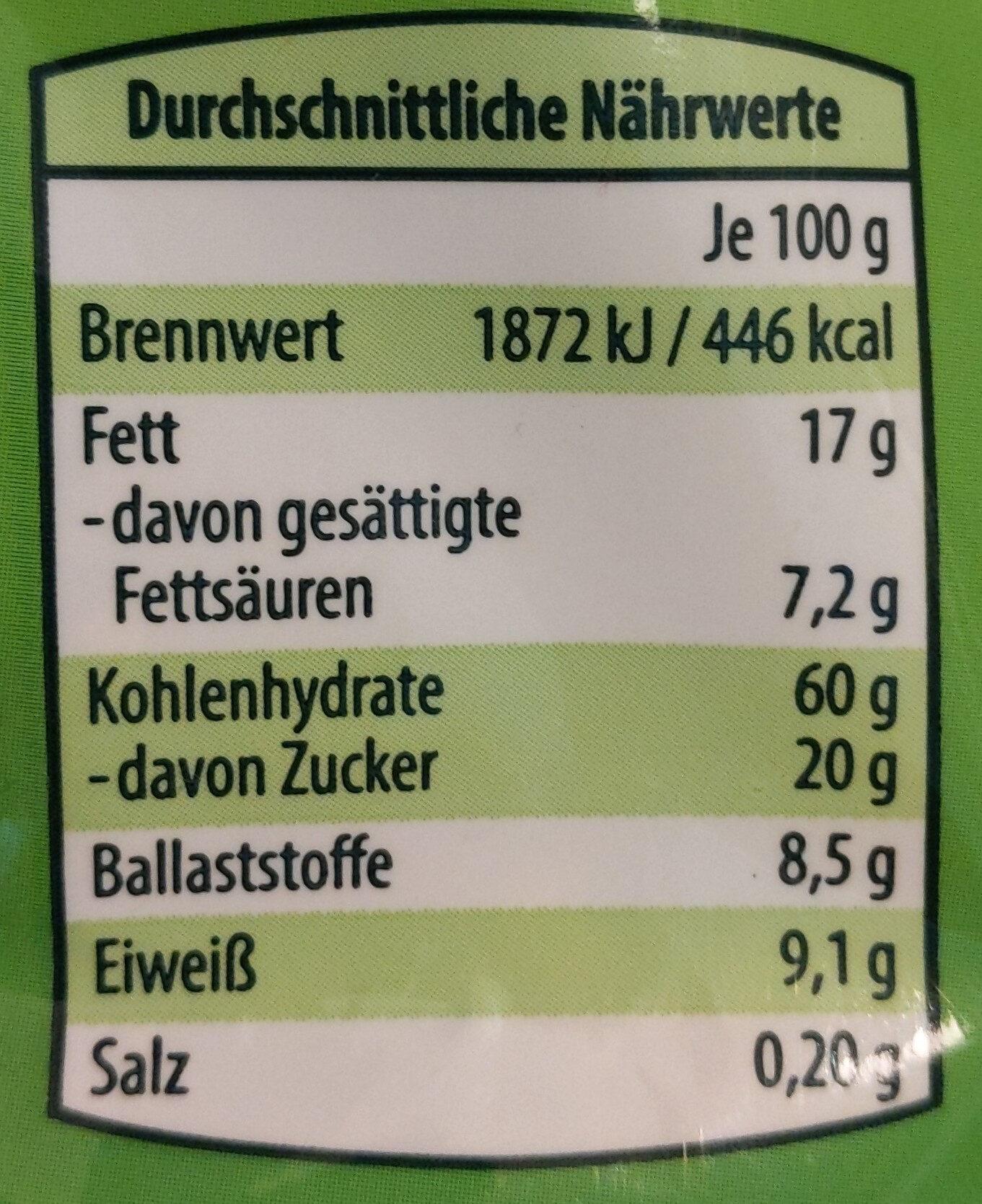 Knuspernüsli Schoko Banane - Valori nutrizionali - de