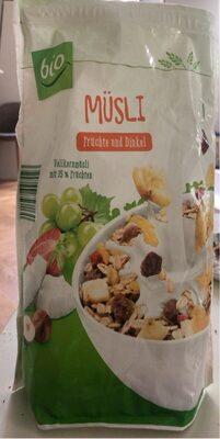 Musli fruchte und dinkel - Produkt - de