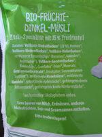 Musli fruchte und dinkel - Zutaten - de