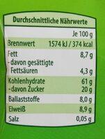 Musli fruchte und dinkel - Nährwertangaben - de