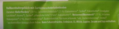 Hafercookies mit Zartbitterschokolade - Ingredients - de