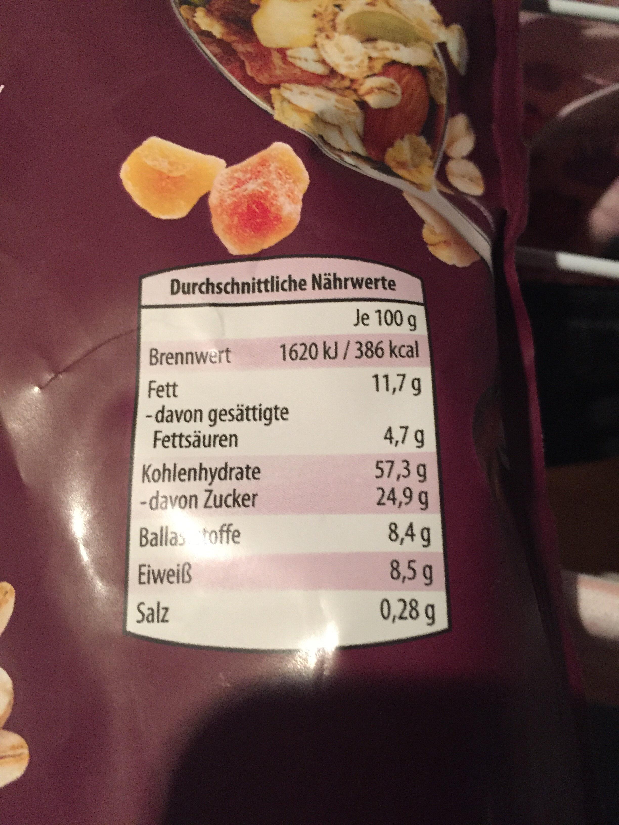 Premium Müsli - Nutrition facts