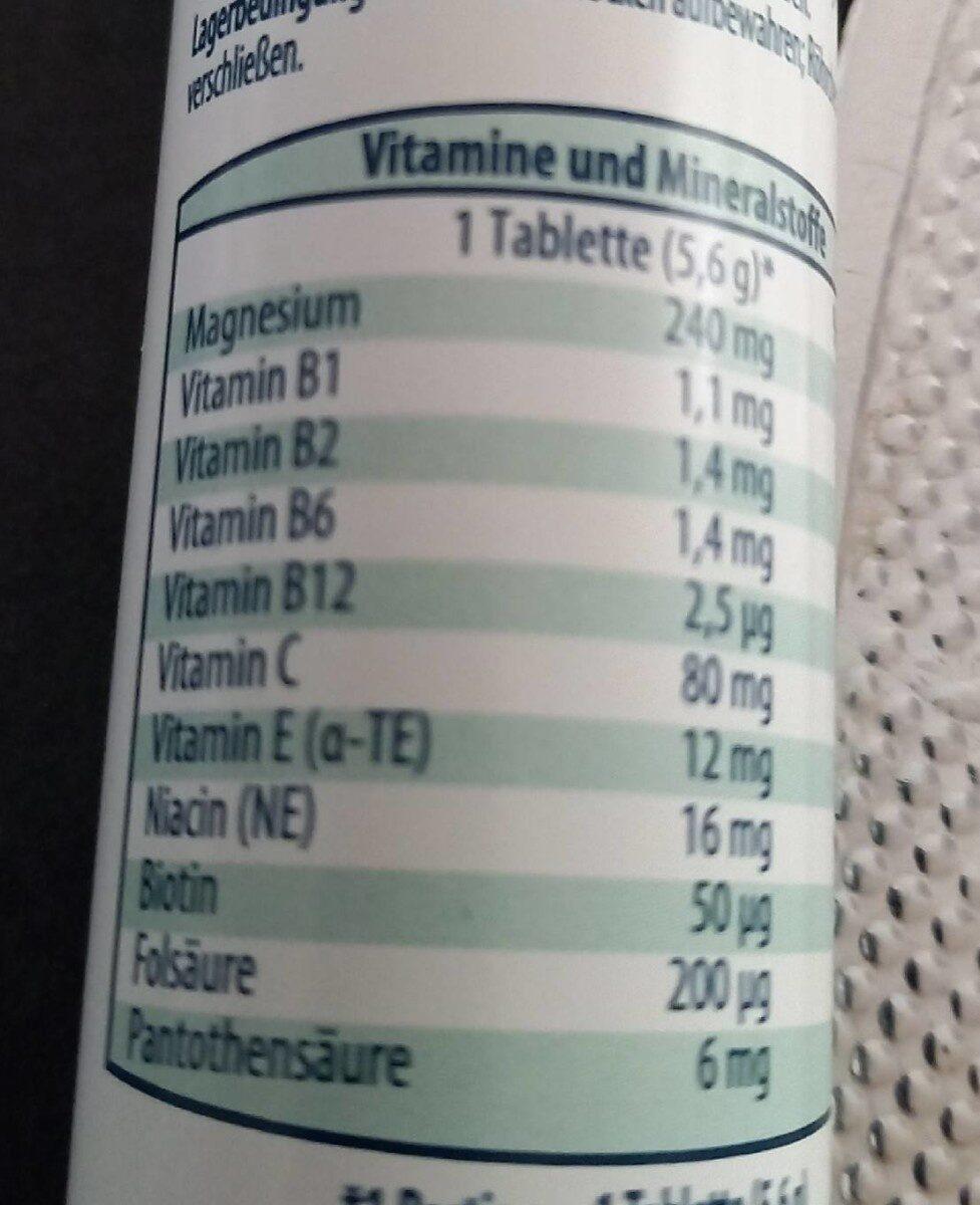 Magnesium 240mg - حقائق غذائية - en