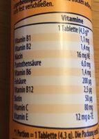 Multi-vitamin - Nährwertangaben - de