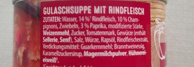 Gulasch-Suppe - Ingredients - de