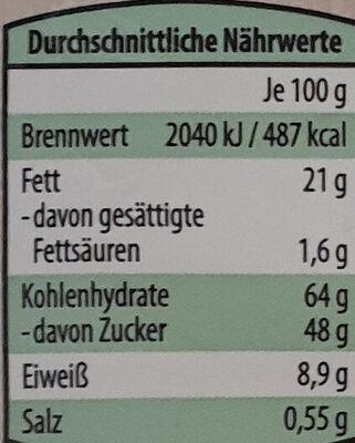 Haselnussfüllung extrafein - Nutrition facts