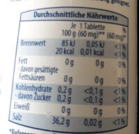 Sussli - Nutrition facts - de