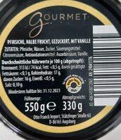 Pfirsiche mit Vanille - Nährwertangaben - de