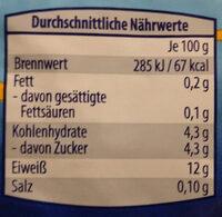 Speisequark Magerstufe - Nutrition facts - de