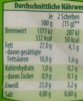 Bio-Salami - Nutrition facts