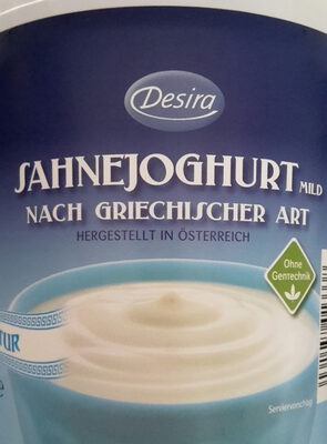 Sahnejoghurt mild natur - Produit