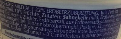 Sahne Kefir mild Erdbeere - Ingrediënten