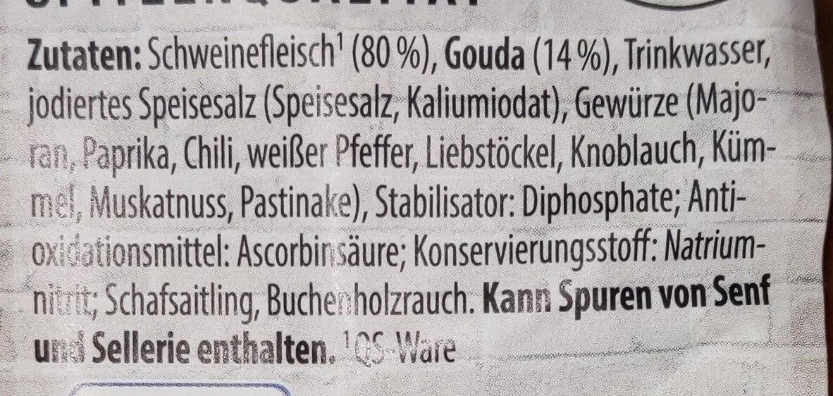 Käse-Krainer - Ingredients - de