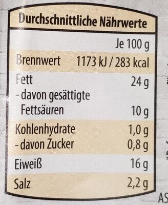 Käse-Krainer - Nutrition facts - de