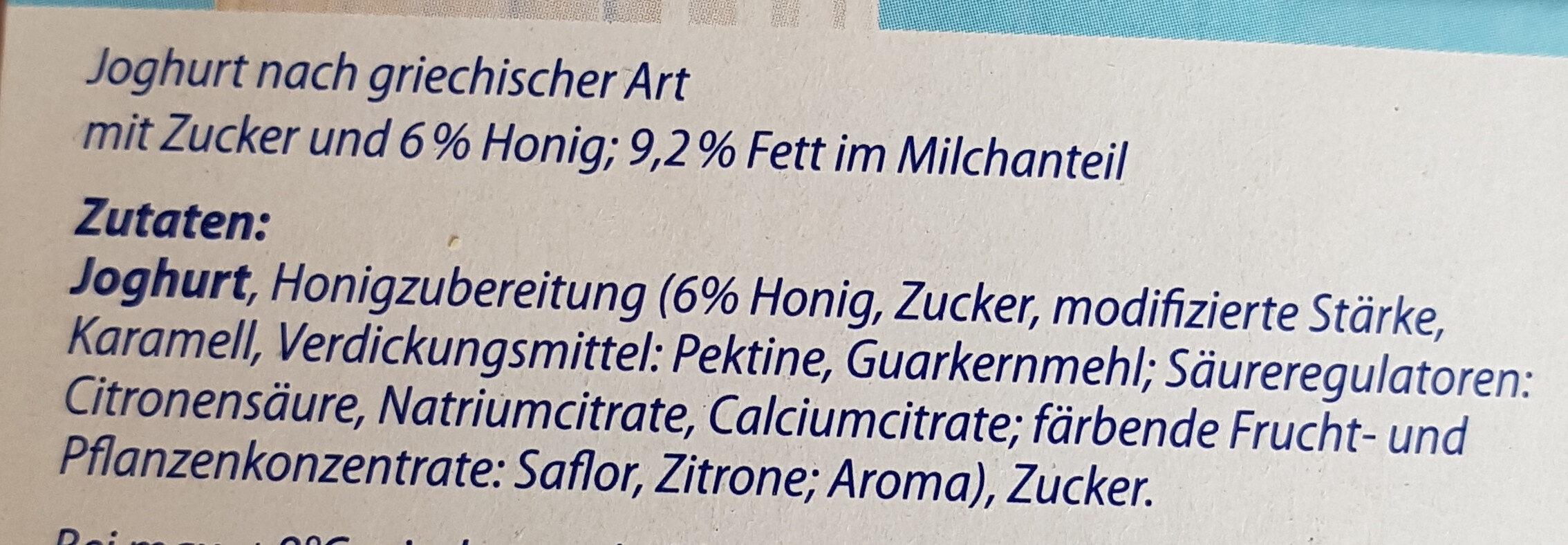 Joghurt Nach Griechischer Art - Zutaten - de