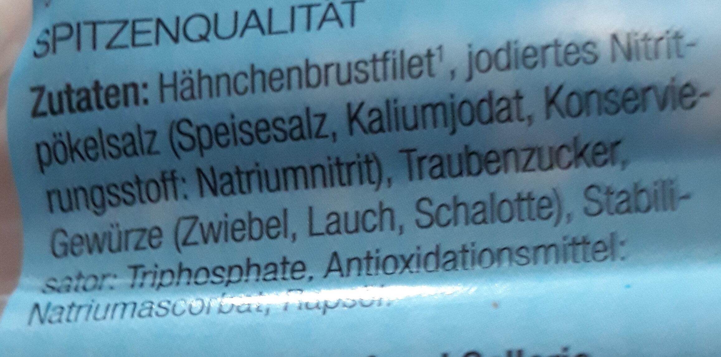 Hähnchenbrust hauchzart - Ingrediënten - de