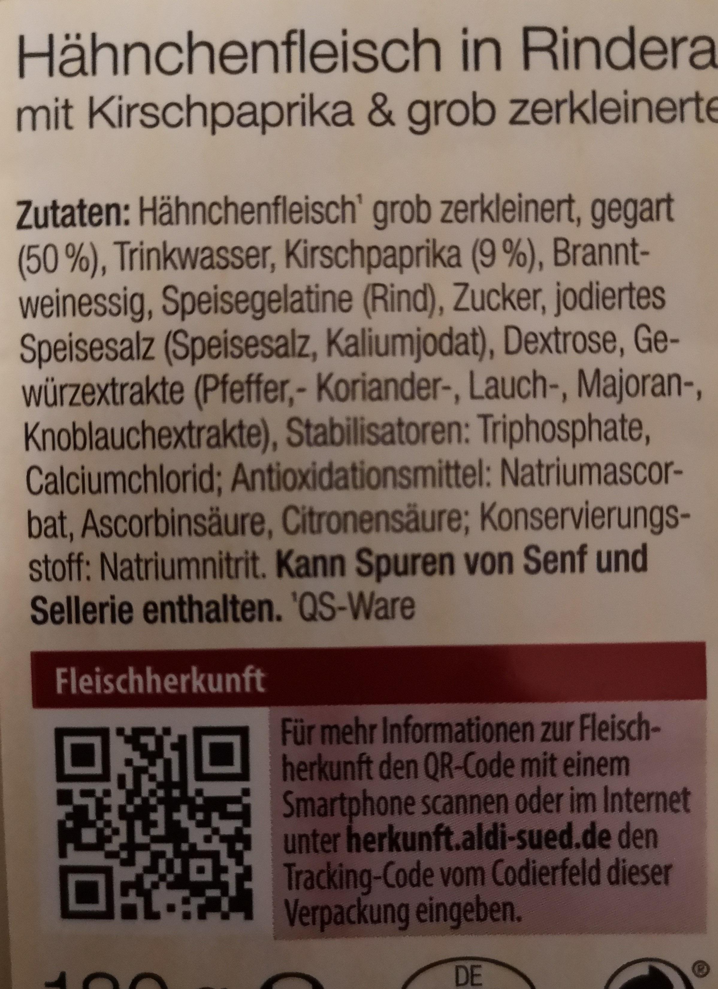 Hähnchenfleisch in Rinderaspik - Ingredients - de
