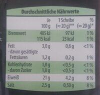 Schinken-Genuss - Informations nutritionnelles - de