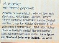 Kasseler mit Pfeffer - Zutaten - de