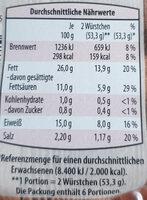Mini-Debreciner - Voedingswaarden