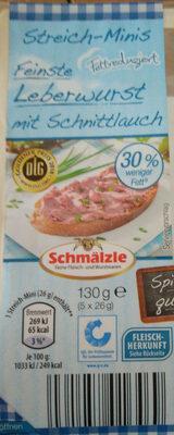 Streich-Minis Feinste Leberwurst mit Schnittlauch - Produit