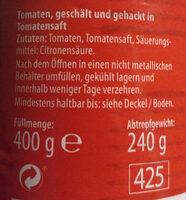 Tomaten gehackt - Zutaten - de