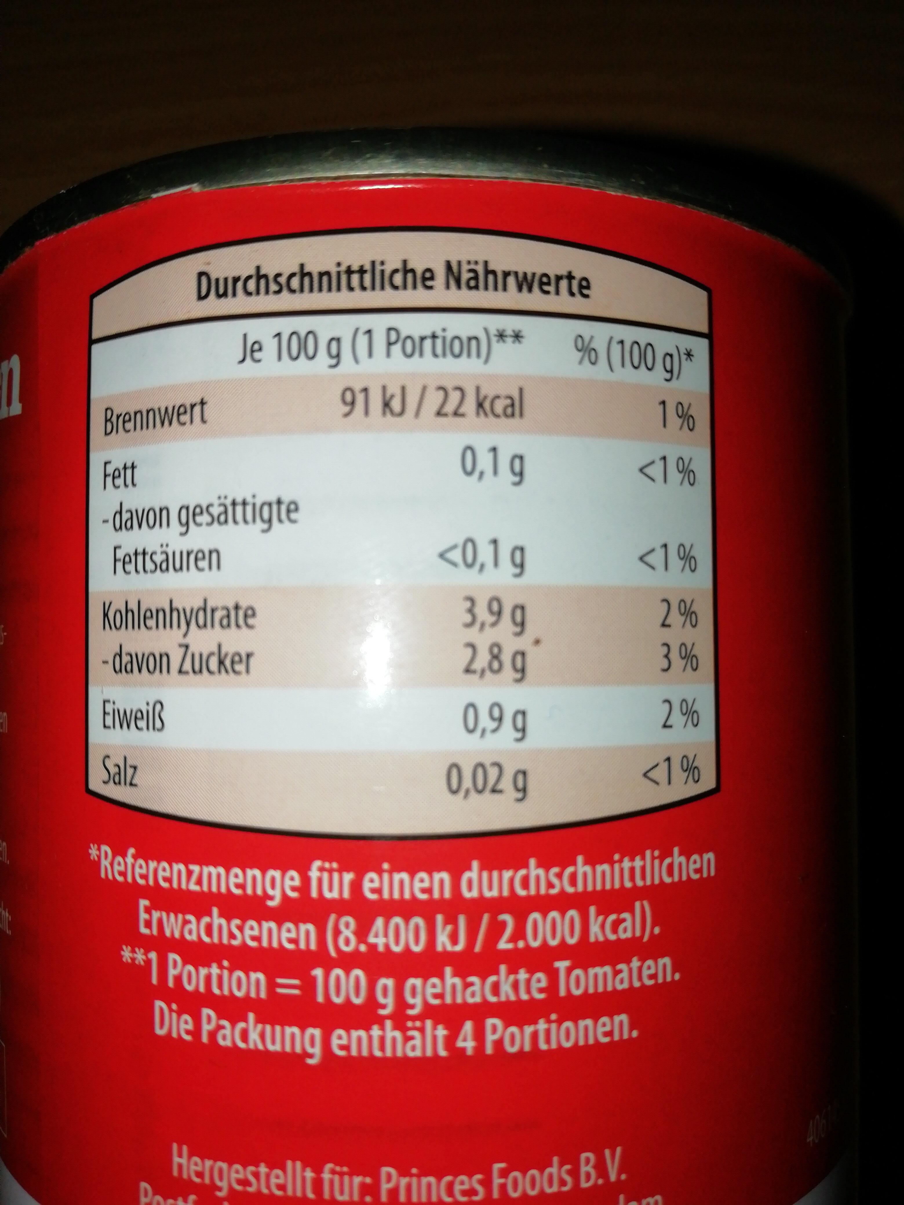 Tomaten - gehackt - Ingredients - en