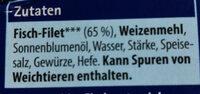 Fischstäbchen - Ingredients - de