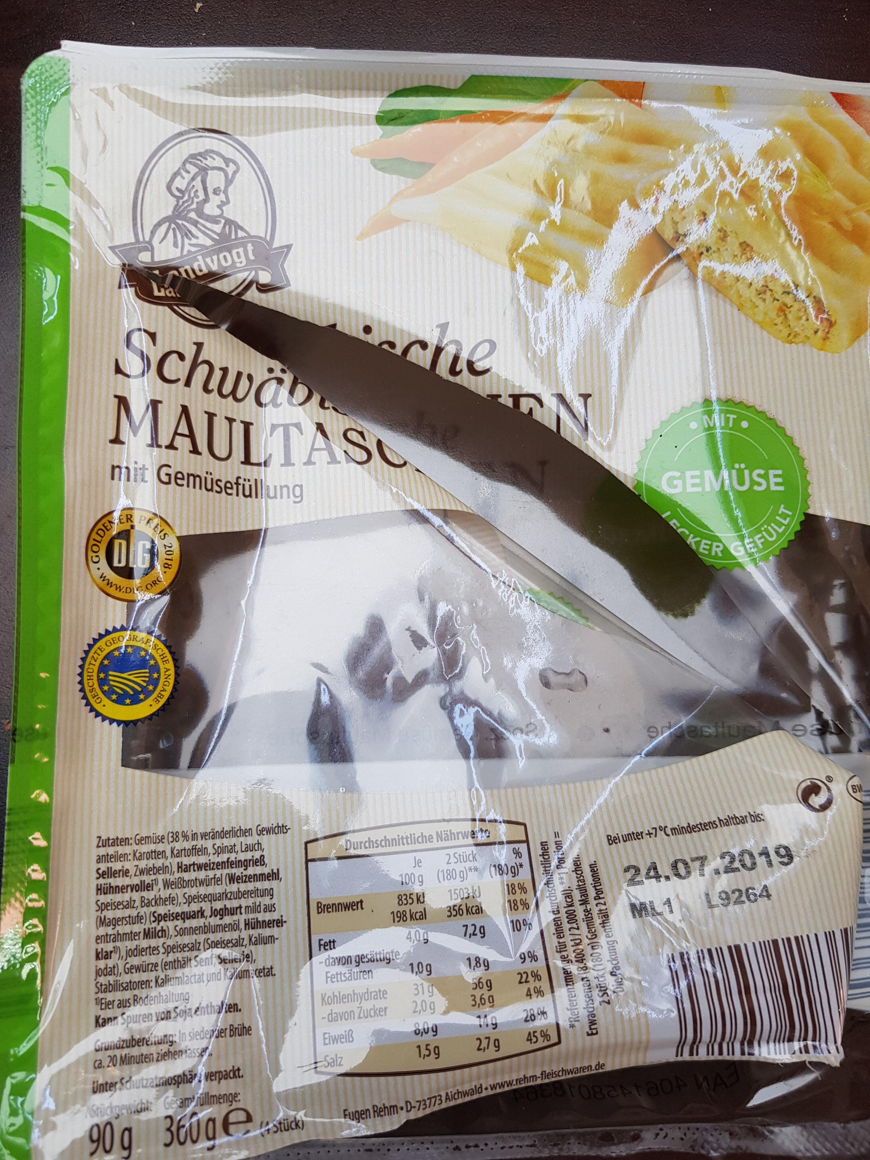 Schwäbische Maultaschen mit Gemüsefüllung - Product - de