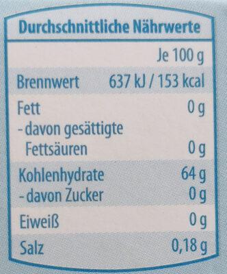 active white mint - Nutrition facts - de