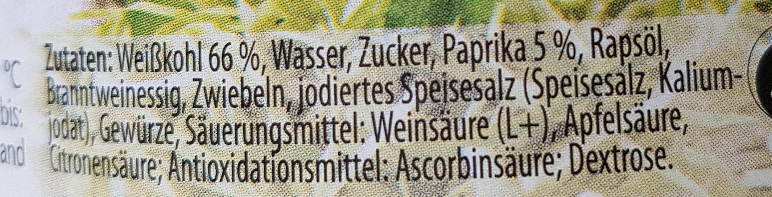 Weißkrautsalat - Ingrediënten
