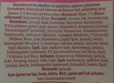 Club Sandwich Krusten-Braten - Zutaten - de