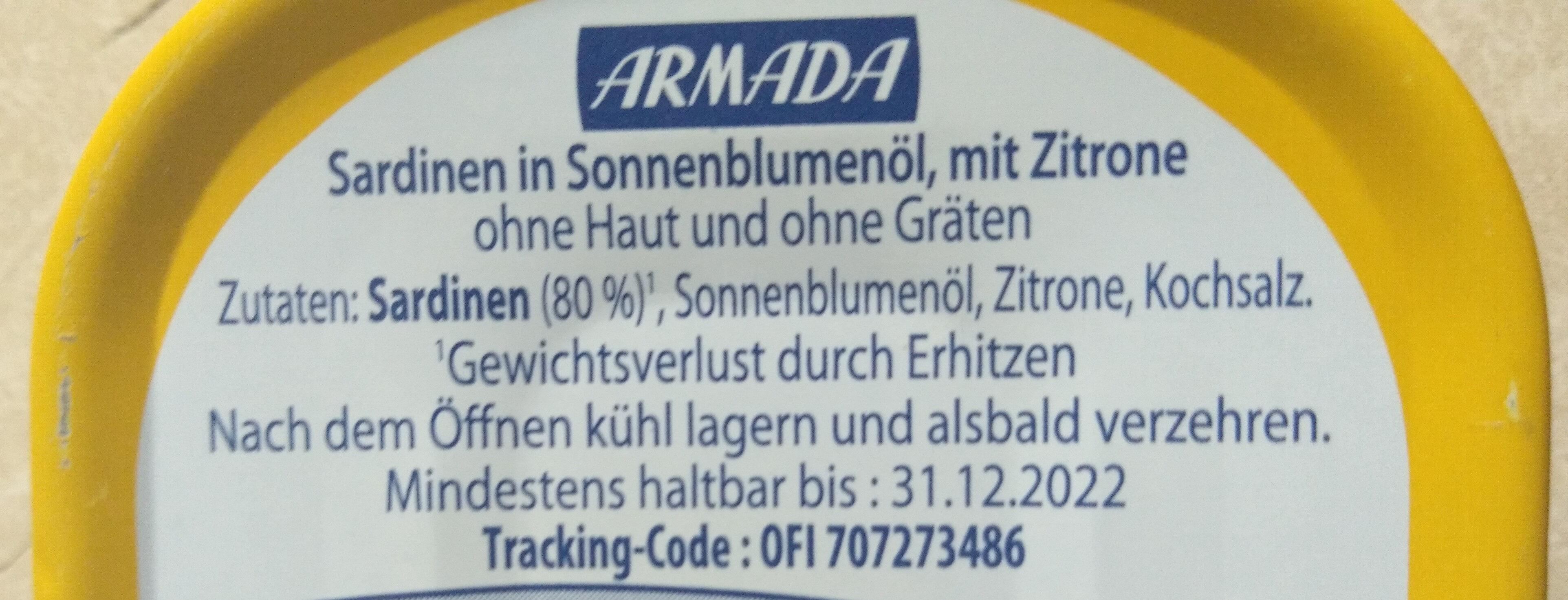Sardine - Ingrédients - de