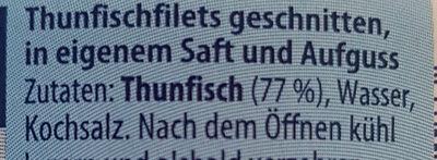 Thunfisch Filets - Zutaten