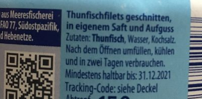 Thunfisch Filets - Ingrédients - fr
