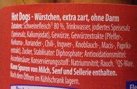 Hot Dogs - Ingredients - de
