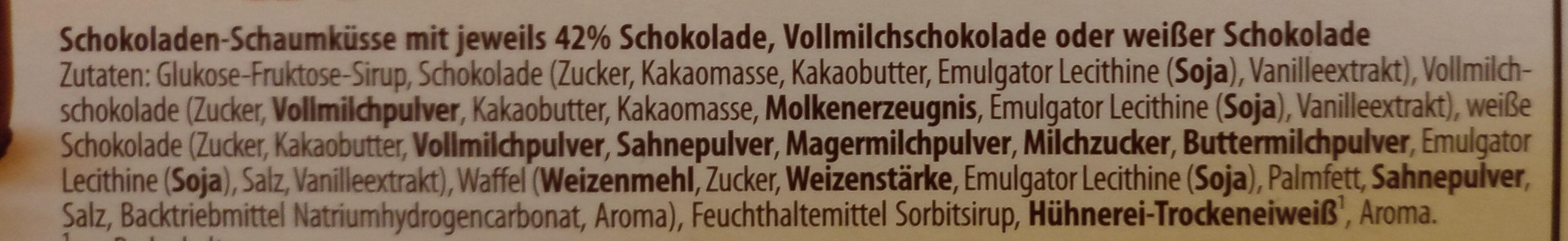 Mini Schoko Küsse - Ingredients